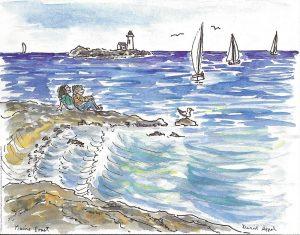 Maine coast by David Appel
